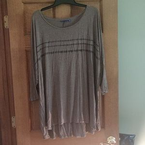 Brown tunic with sparkle design
